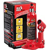 BIG RED T90203B Torin Hydraulic Welded Bottle Jack, 2 Ton (4,000 lb) Capacity, Red