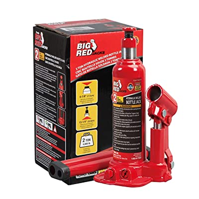 BIG RED T90203B Torin Hydraulic Welded Bottle Jack