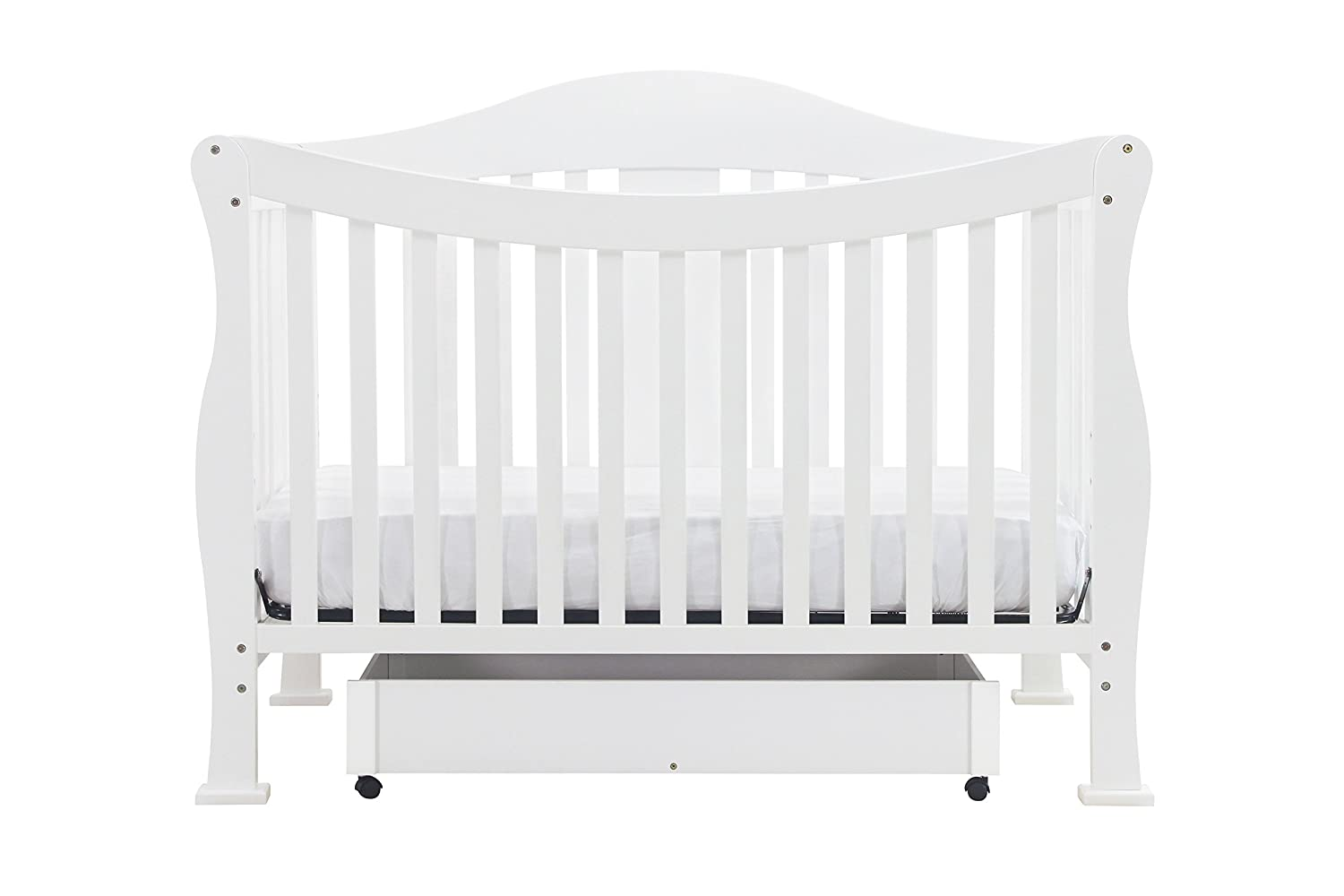 Amazon.com : DaVinci Parker 4 In 1 Convertible Crib With Toddler Bed  Conversion Kit, White : Baby Cribs Convertible : Baby
