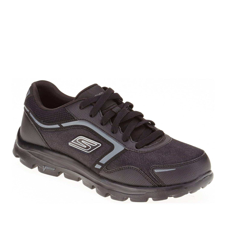 Skechers Women's GOwalk Deluxe LT Walking Shoe (9, Black