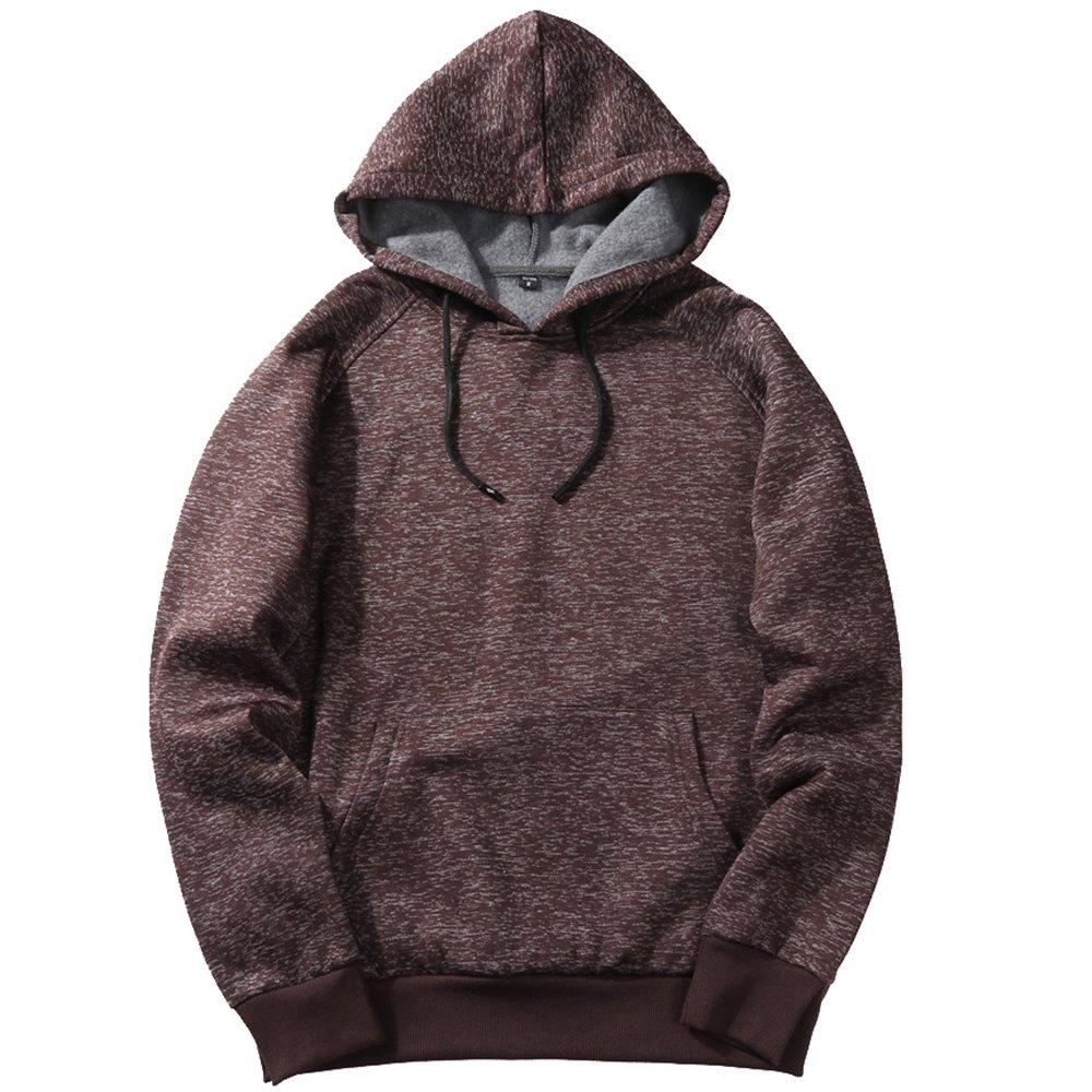 MANTORS Men's Soft Hoodie Sweatshirt Keep Warm Sport Pullover Hooded Coffee M by MANTORS (Image #1)