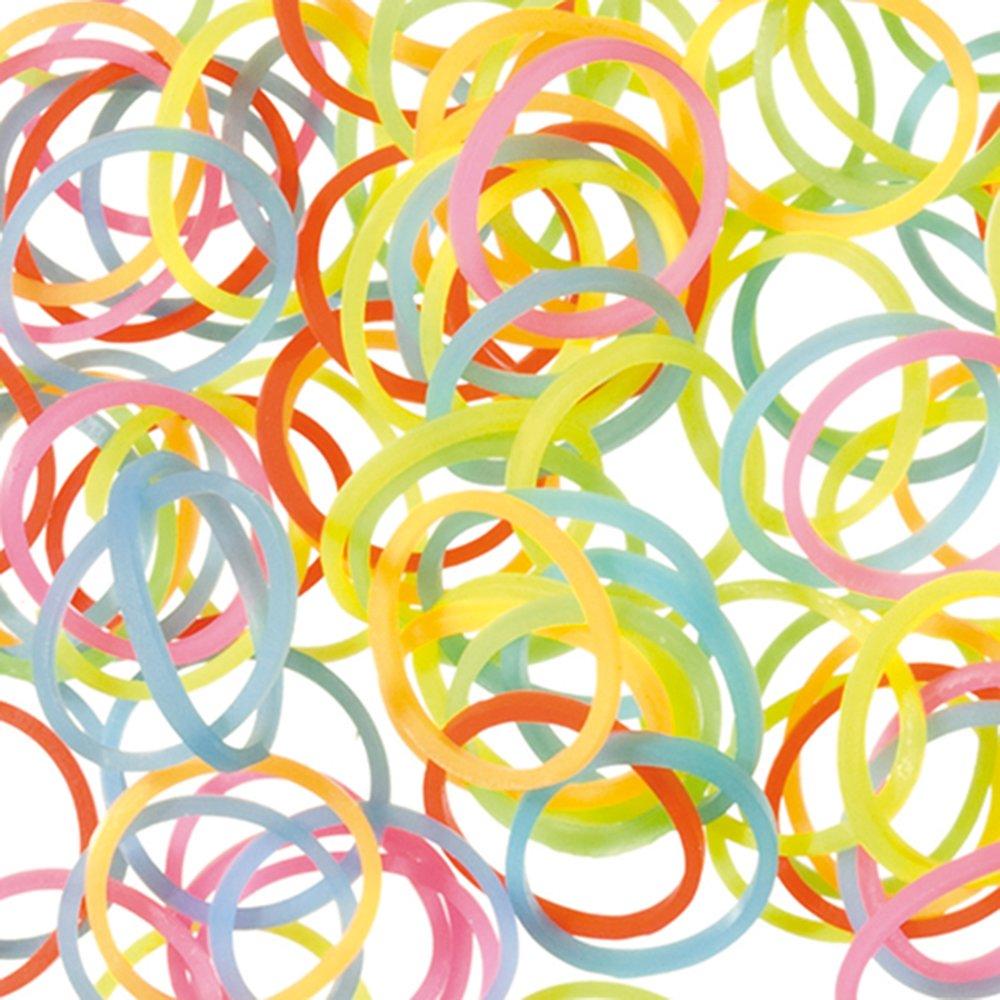 130-tlg Neonfarbe Gummiringe Gummibänder Haushaltsgummis Gummiband Spanngummi
