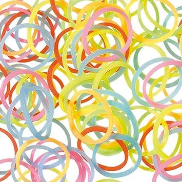 Neon Bunt Gummib/änder Gummiringe Gummiband Haushaltsgummis Set 130 tlg