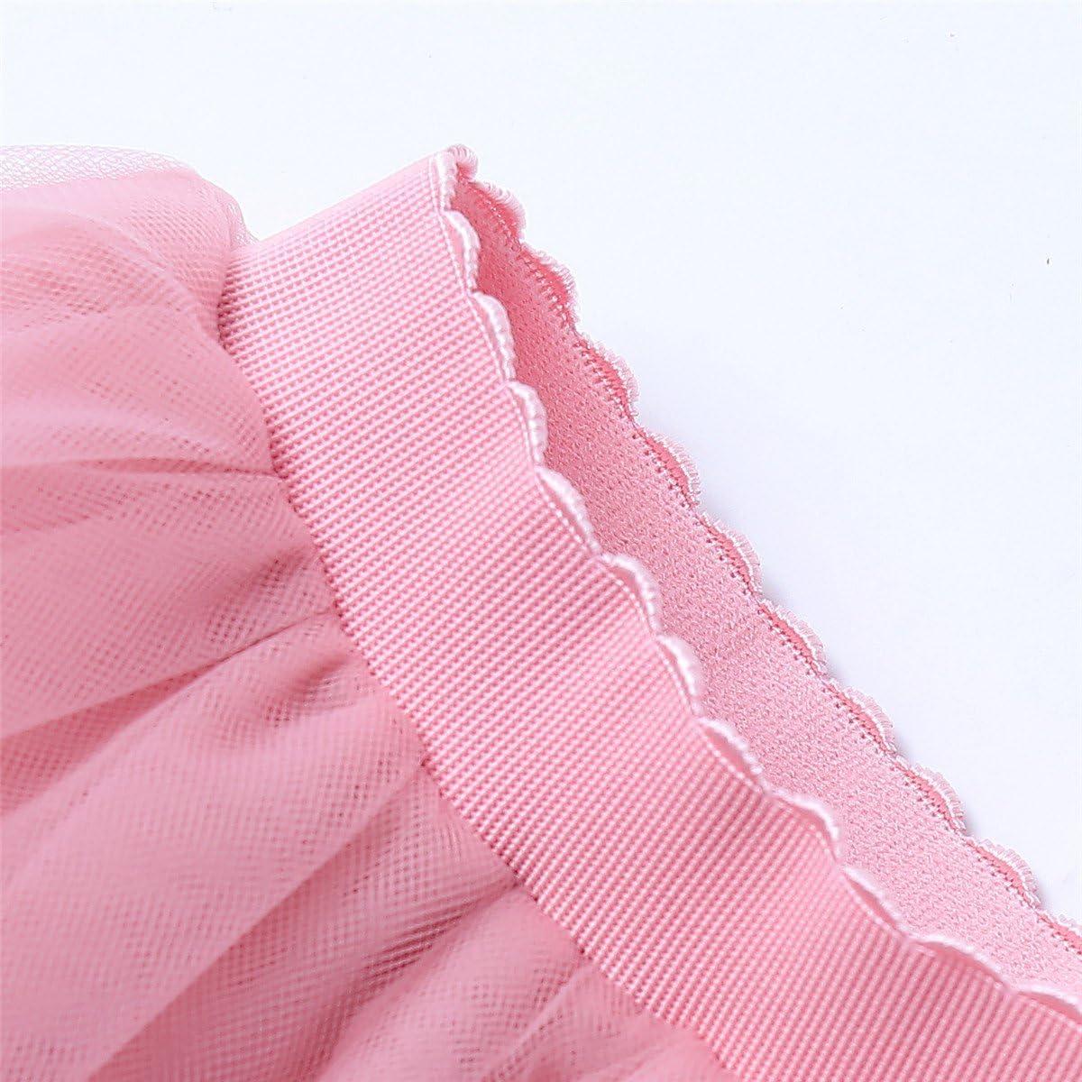 ShowYeu Damen Mid Calf Petticoat A-Linie Tutu T/üllrock Party Abschlussball Jupe Saias Brautjungfernkleid