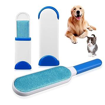 Set de cepillo quita pelos de mascotas (perros y gatos), rodillo para quitar pelos y pelusas ...