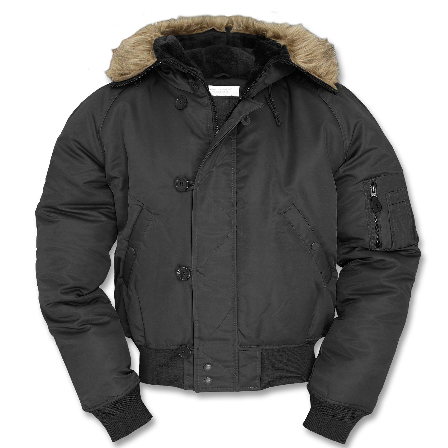 Mil-Tec US N2B Flight Jacket Black by Camo Outdoor: Amazon.es: Deportes y aire libre
