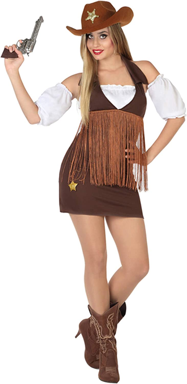 Atosa-26551 Cowgirl Disfraz Vaquera, Color marrón, XL (26551 ...