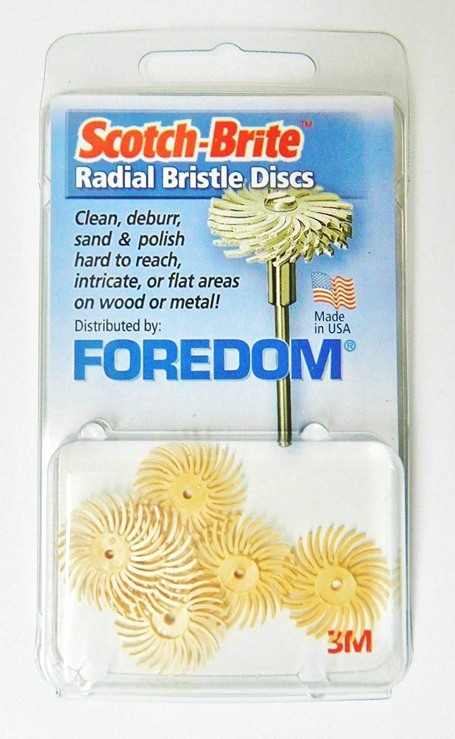 Foredom Radial Bristle Discs 6mic Grit Peach 3/4' - Pack of 6 3M Radial Brushes