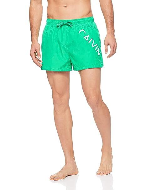 Calvin klein KM0KM00161 Traje de bano Hombre Verde M: Amazon ...