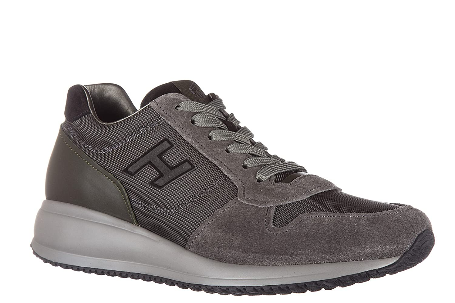 baaa21a2d5b2 Hogan Men s Scarpe Sneakers Uomo Camoscio nuove Interactive N2 Trainers Grey  Grey Grey Size  6  Amazon.co.uk  Shoes   Bags
