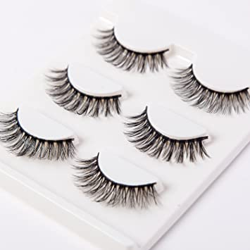 0c4eba62cd7 Amazon.com : 3D False Eyelashes Cross Long Lashes for Men Women Girls :  Beauty