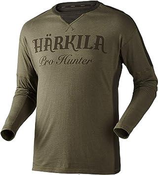 Härkila Pro Hunter L/S - Camiseta de caza para cazador (manga larga), todo el año, color Lake green / Shadow brown, tamaño large: Amazon.es: Deportes y aire libre