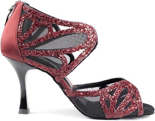 Chaussures de danse Femme Rouge, bordeaux : Chaussures de
