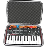 co2crea Hard Travel Case for Akai Professional MPK Mini MKII | 25-Key Ultra-Portable USB MIDI Drum Pad Keyboard…