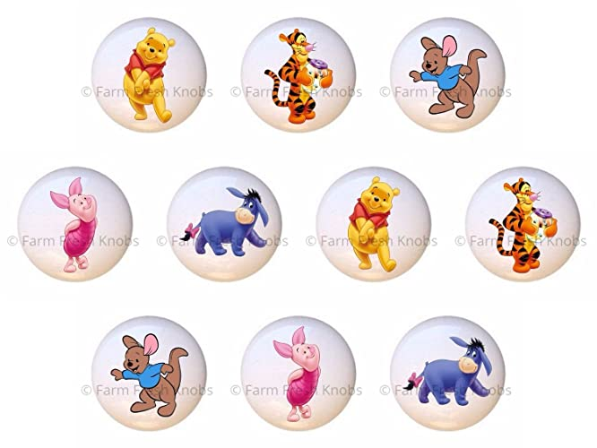 Amazon.com: SET OF 10 KNOBS - Winnie the Pooh & Friends Tigger Roo ...