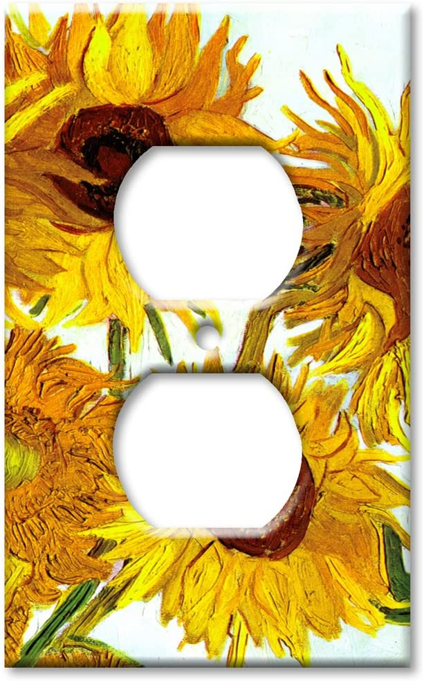 Art Plates - Van Gogh: Sunflowers Outlet Cover Switch Plate - Single Gang Outlet Cover