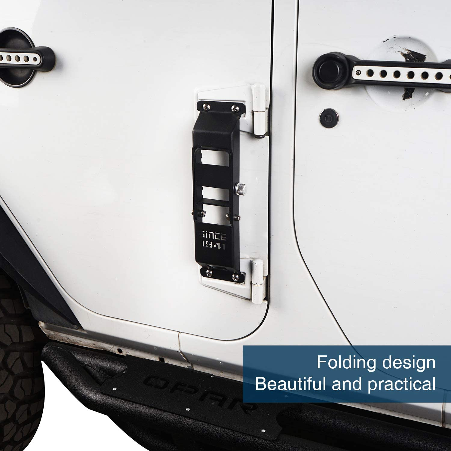 Kutang Modified Jeep Wrangler Door Hinge Step Foot Pedal w//Since 1941 Sign for 2007-2018 Jeep Wrangler JK /& Unlimited