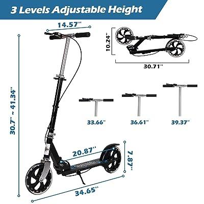 Adult Folding Kick Scooter W// Dual Suspension,Hight-Adjustable Urban Big LP