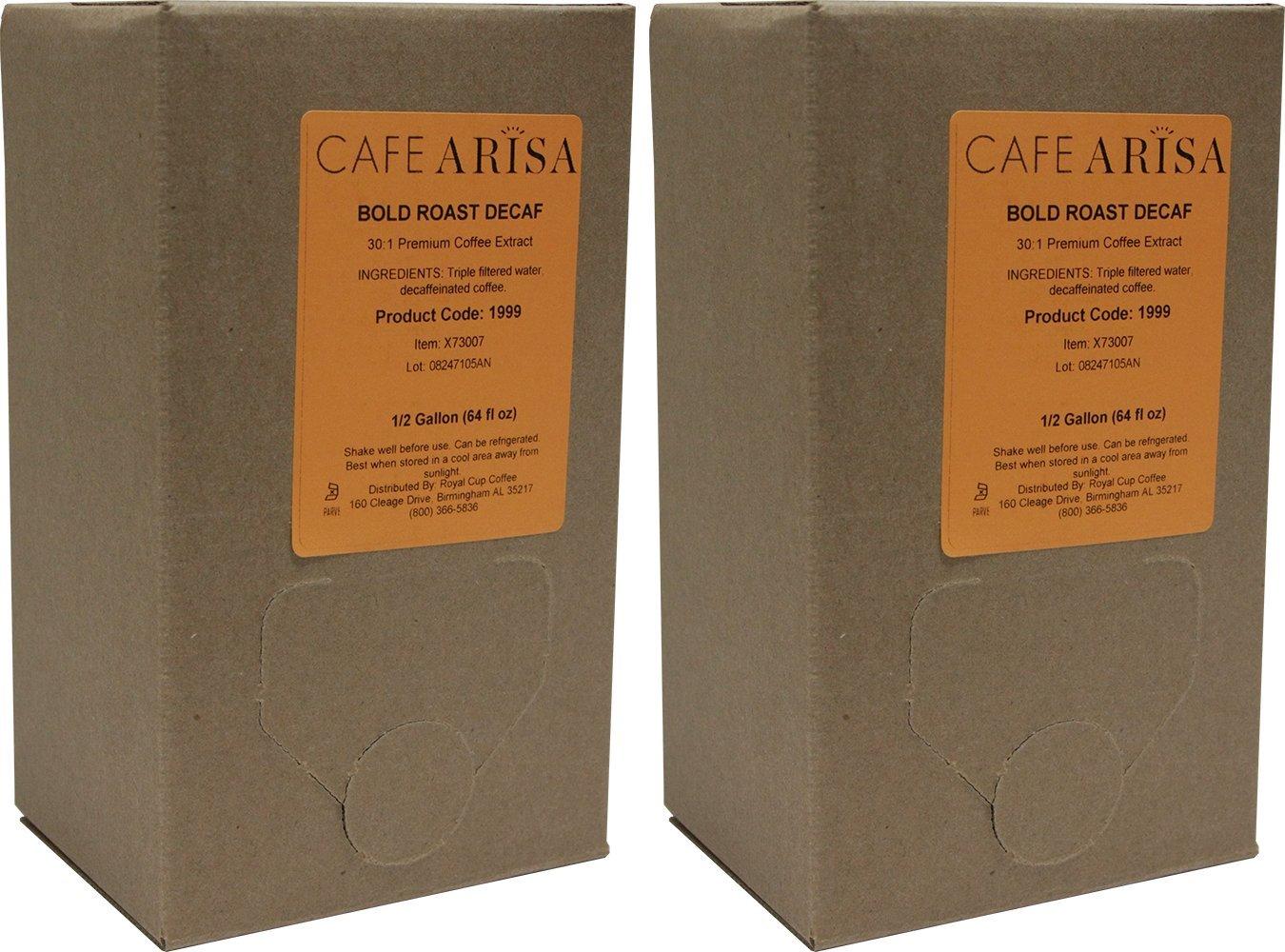 Cafe Arisa Bold Roast Decaf Liquid Coffee, 2 boxes (64 oz ea.)