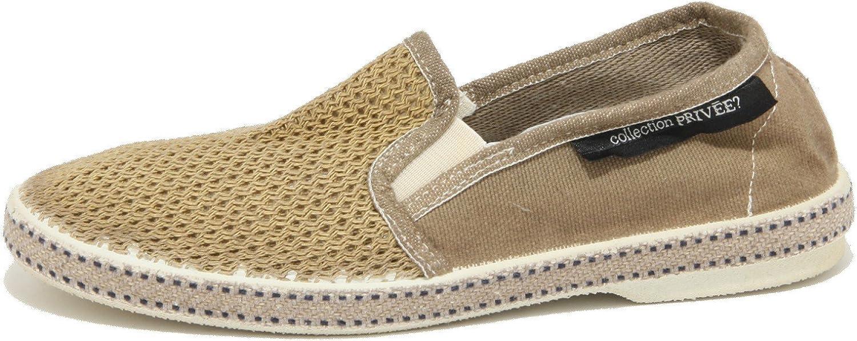 COLLECTION PRIVEE 2058O Espadrillas Beige Scarpe Uomo Shoes Men