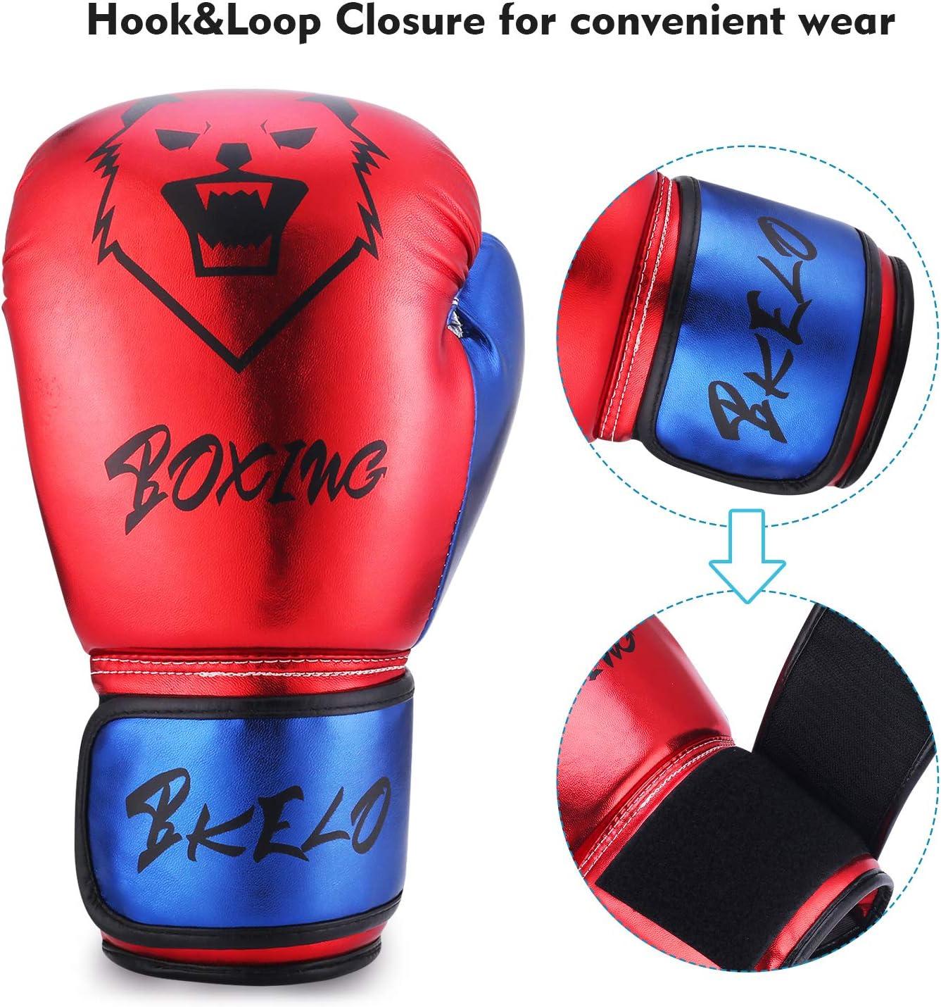 Kickboxing GLOWPEAK Pro Grade Boxing Gloves for Men/&Women Training Gloves,Fight Gloves,Thai Gloves