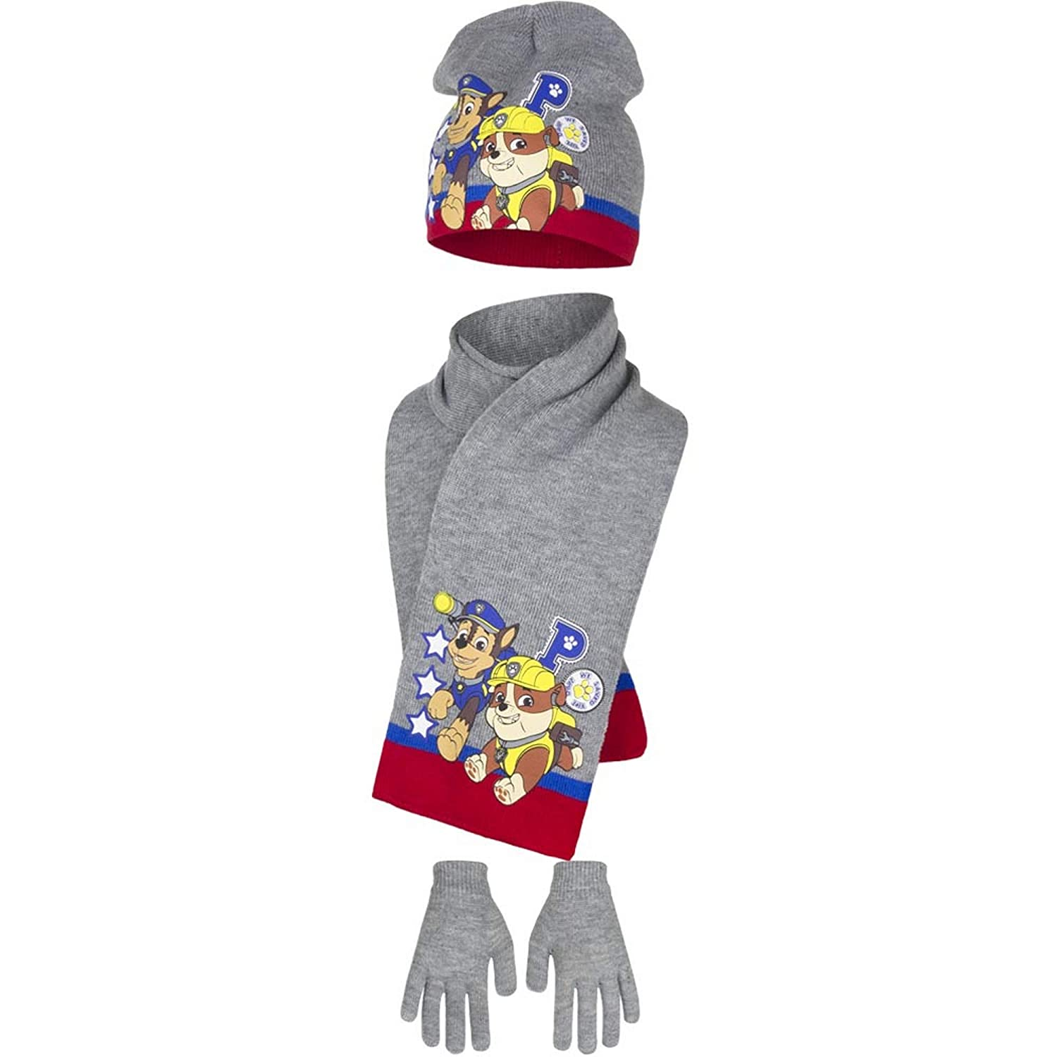 Paw Patrol Childrens Boys We Saved The Day Winter Hat, Scarf and Gloves Set