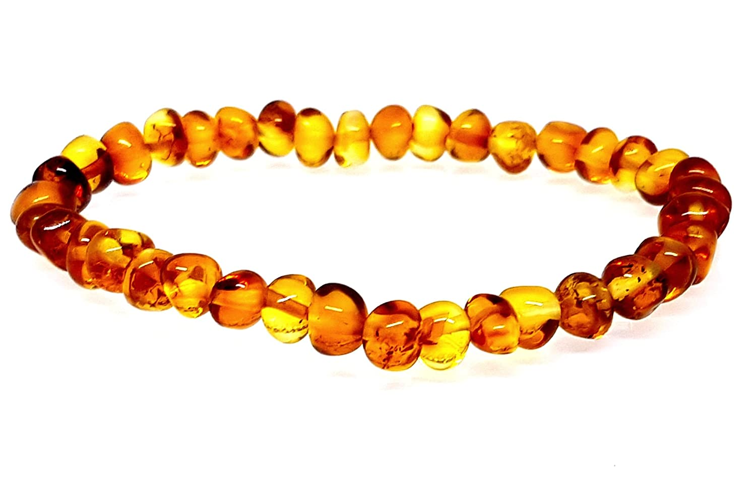 Baltic Amber Bracelet/Round Baroque Beads/Adult Women/Anti-inflammatory/Anklet Women/Certified Baltic Amber AMBERMILANA