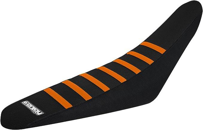 Black Ribs Enjoy MFG Ribbed Seat Cover for KTM SX//EXC//SXF All Black