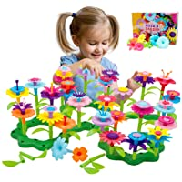 Byserten Gifts for 3-6 Year Old Girls Flower Garden Building Set 98 PCS Arts and Crafts for Girls 11 Colors Birthday…