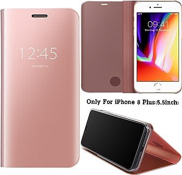 Guran® Mirror Efecto Espejo Funda para iPhone 8 Plus (5.5