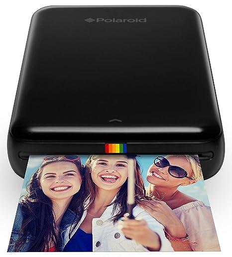 Polaroid Zip - Impresora móvil, Bluetooth, Nfc, micro USB, tecnología Zink Zero Ink, 5 x 7.6 cm, compatible con iOS y Android, negro, 2.2 x 7.4 x 12 ...