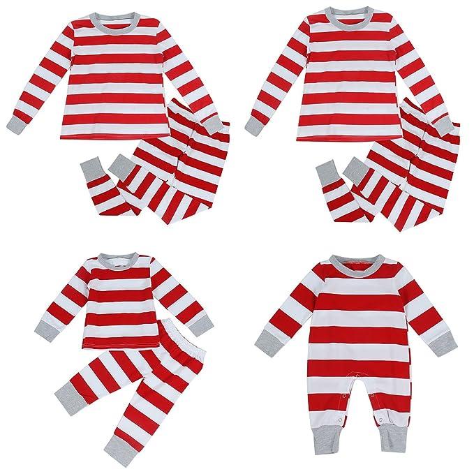 4e8937f1d6a0 Amazon.com  puseky Dad Mom Baby Kids Family Matching Christmas ...