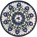 "Polish Pottery 6"" Appetizer Toast Plate Ceramika Artystyczna Poland Traditional Stoneware Pattern T1072B"