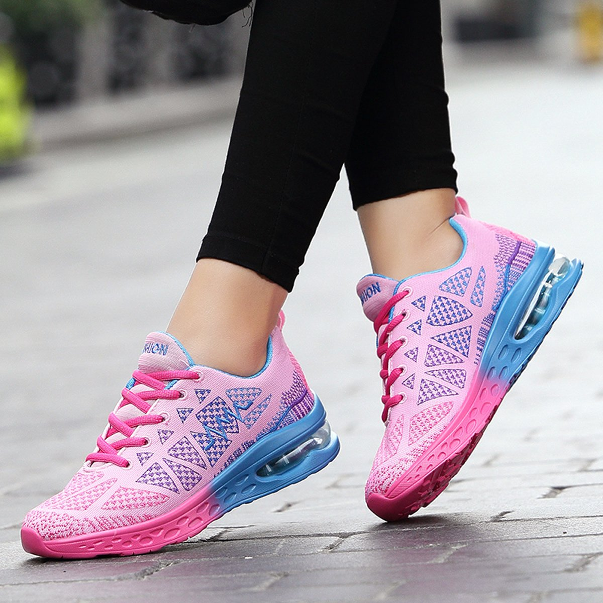 JARLIF Women's Athletic Running Sneakers Fashion Sport Air Fitness Workout US5.5-10 Gym Jogging Walking Shoes US5.5-10 Workout B076D21DRD 7.5 B(M) US|Pink 5c4dab