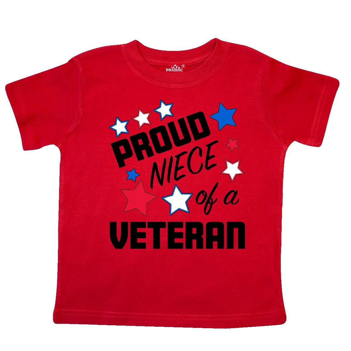 inktastic Proud Niece of a Veteran Veterans Day Toddler T-Shirt