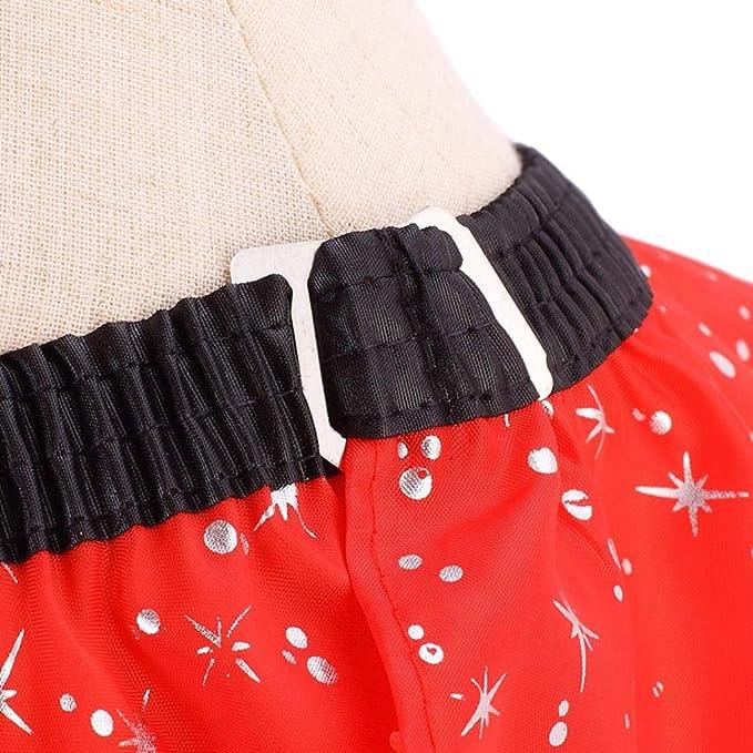 Sharplace Rojo Vestido de Peluquería Profesional Capas de Corte de Pelo Batas: Amazon.es: Belleza