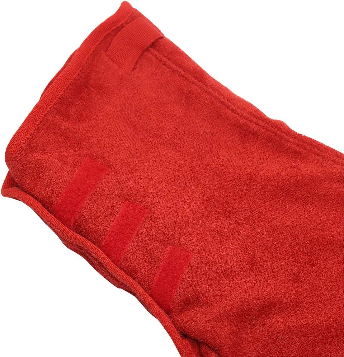 Geyecete Dog Drying Coat Dry Fast Dog Bag Red-XL C628 Dog Bathrobe Towel-Microfibre Fast Drying Super Absorbent Pet Dog Cat Bath Robe Towel