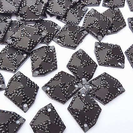 560eeaba4da1 Succi Shan Big Sale 50pcs Black Flatback All- Star Gems Resin Sew On Rhinestone  For