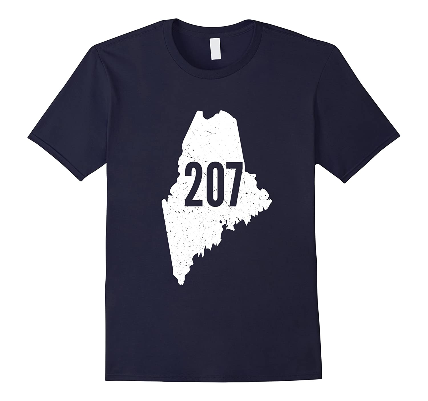 207 Maine State Area Code Outline Pride T-Shirt-BN