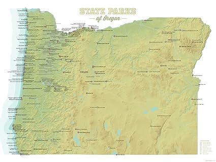 Oregon State Parks Map Amazon.com: Best Maps Ever Oregon State Parks Map 18x24 Poster