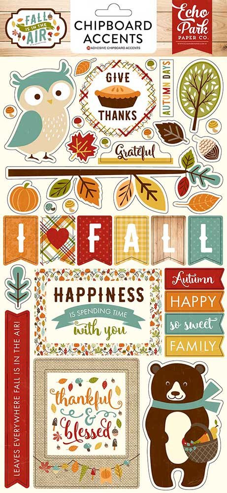 Echo Park Paper Company FIA112022 Fall is in The Air 6x13 Chipboard