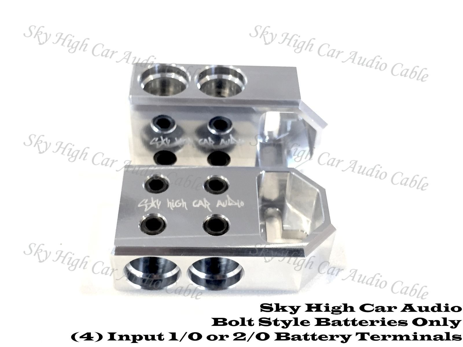 Pair of Sky High Car Audio (4) 2/0 or 1/0 Gauge BATTERY TERMINALS BOLT USE ONLY