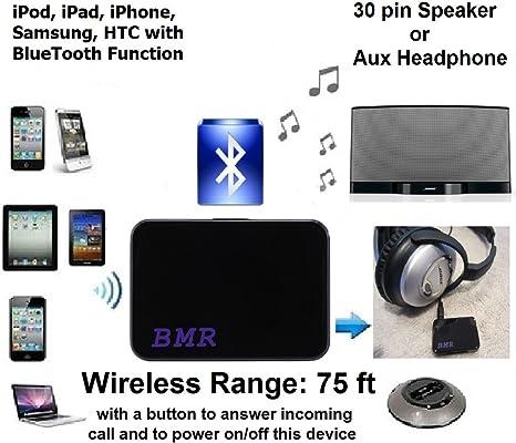Bluetooth Wireless Music Audio Receiver for iPhone iPad iPod Galaxy 30-Pin Dock