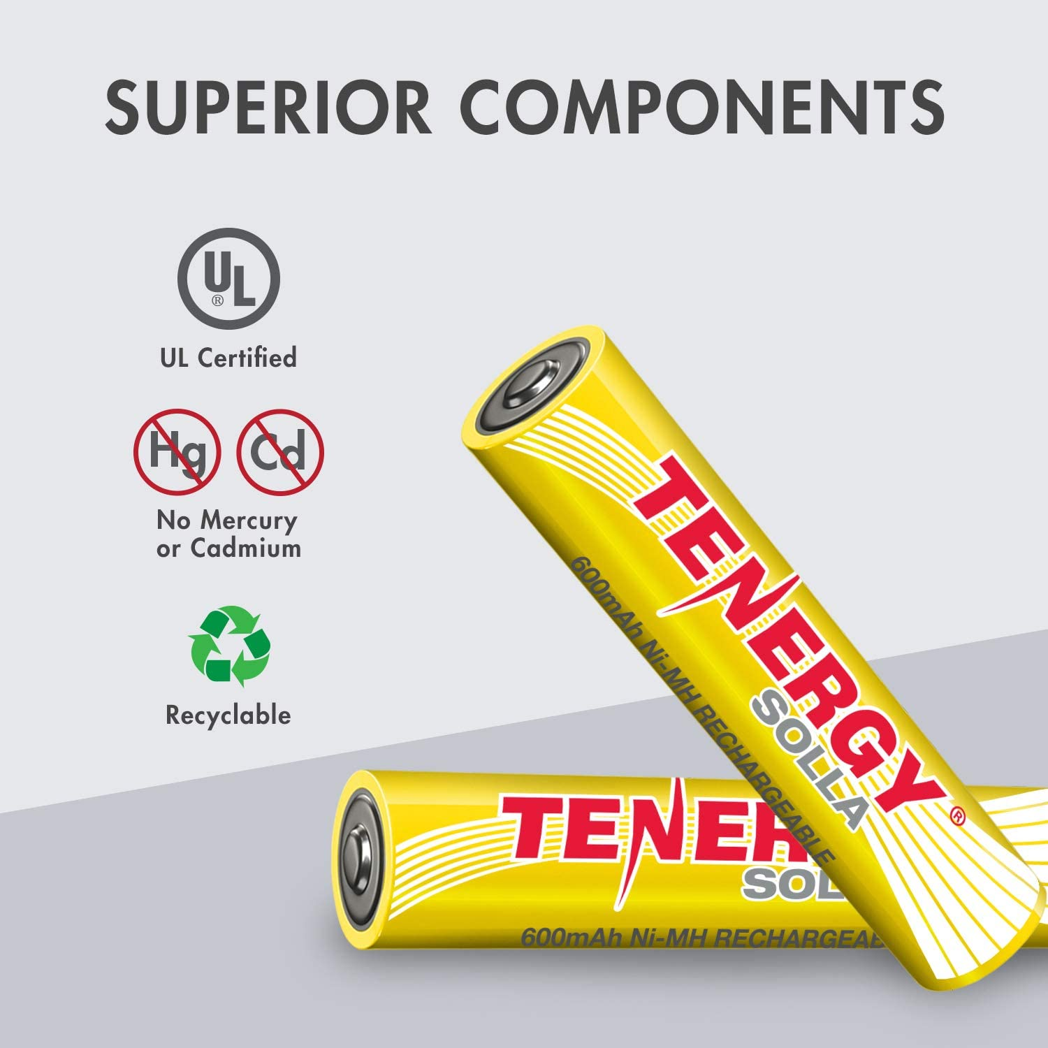 Tenergy Solla NiMH Rechargeable Battery for Solar Lights