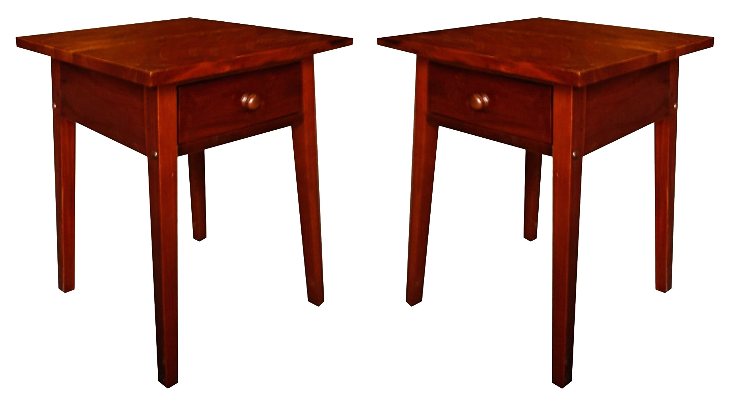 Urnporium Mahogany Wood Made by Craftsmen, End Tables, 25'' Tall, Set of 2
