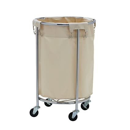 Amazon.com: Household Essentials Commercial Round Laundry Hamper ...