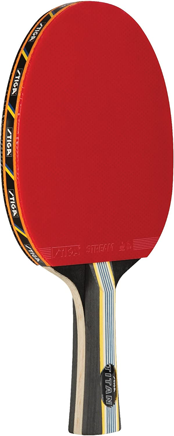 STIGA Tournament-Quality Titan Table Tennis Racket with Crystal Technology to Harden Blade for Increased Speed, 2mm Sponge and Concave Italian Composite Handle : Ping Pong Paddle : Sports & Outdoors