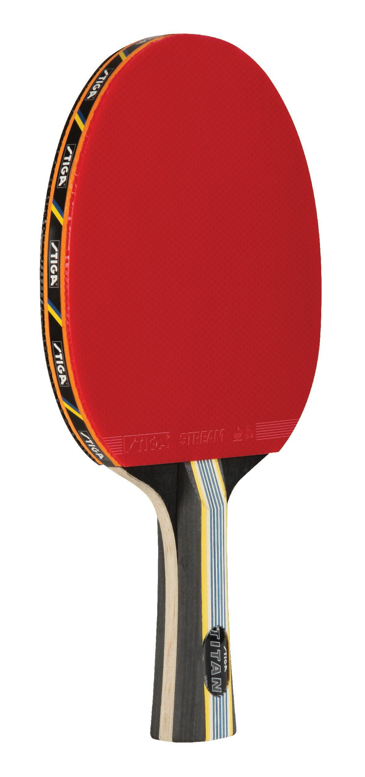 STIGA Tournament-Quality Titan Table Tennis Racket with Crystal Technology to Harden Blade for Increased Speed, 2mm Sponge and Concave Italian Composite Handle
