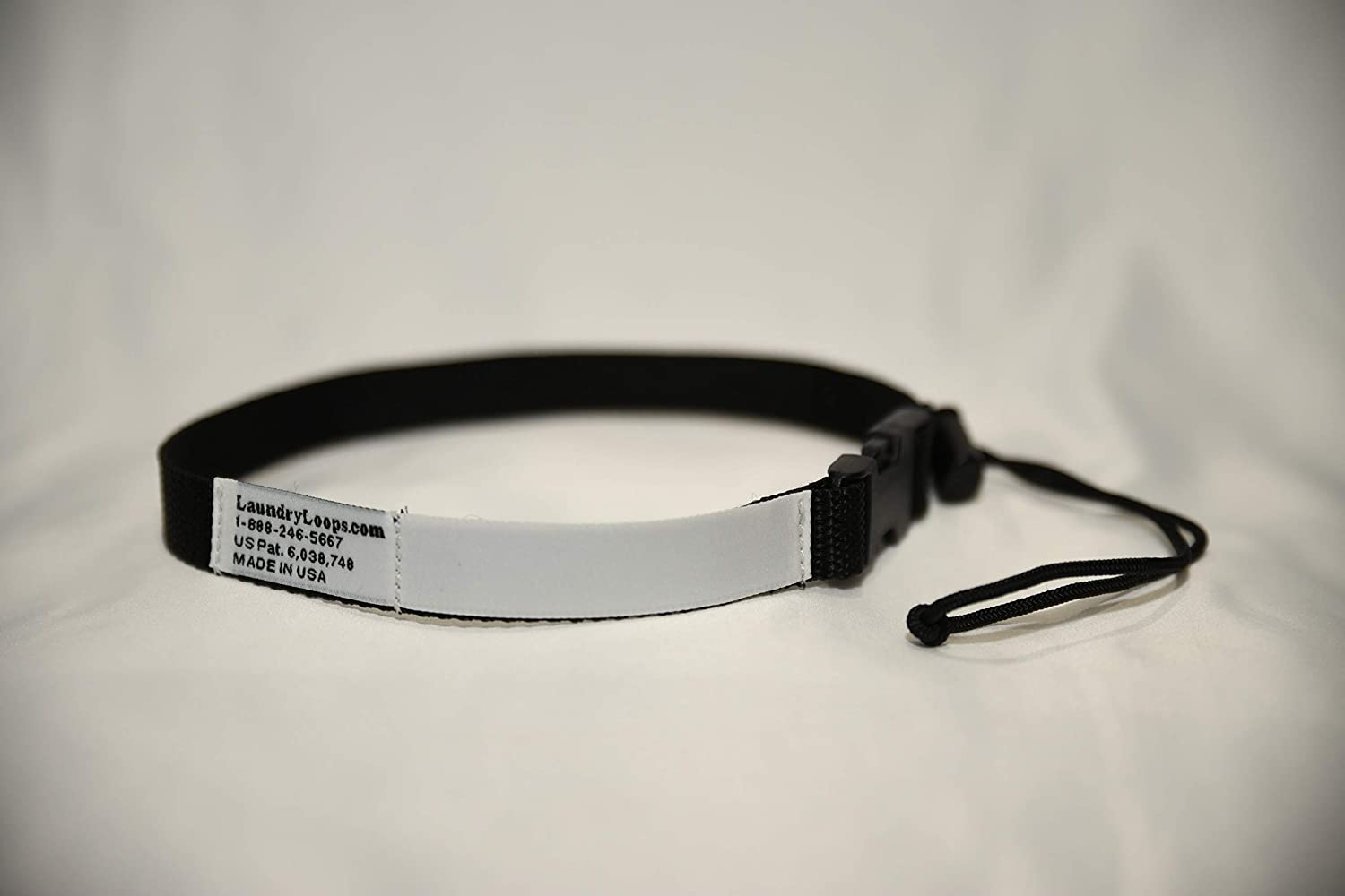 Laundry Loops with Sock Snare, Premium Black Laundering Strap