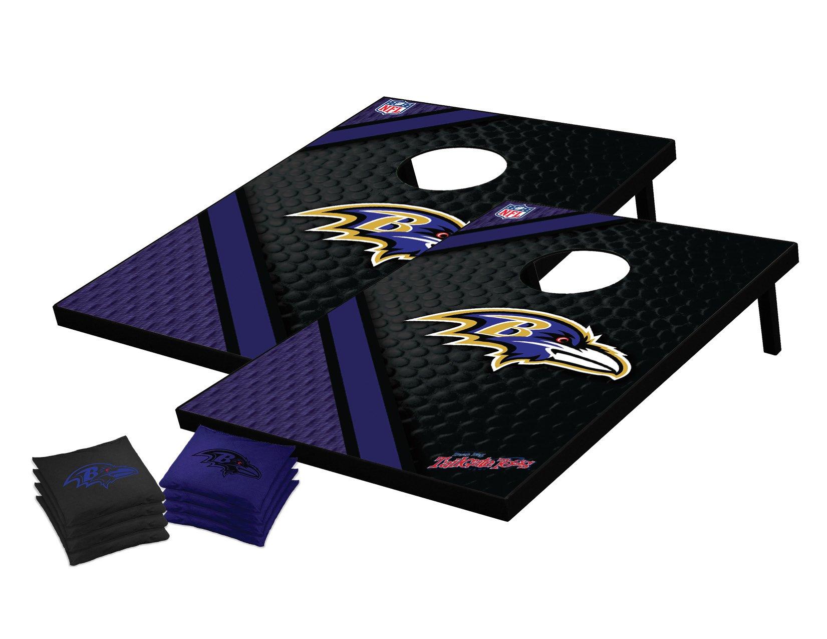 Wild Sports NFL Baltimore Ravens Tailgate Toss Bean Bag Game Set, Medium